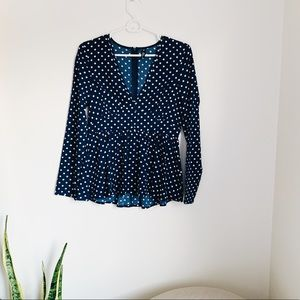 Tops - Polka dot blouse